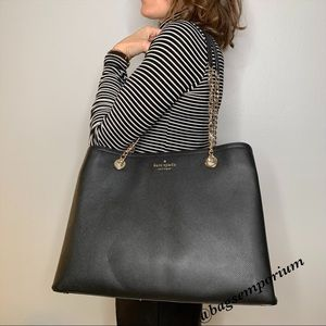 Kate Spade Large Leather Chain Purse Tote
